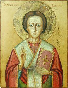 Рукописная икона Феодот Анкирский купить с доставкой