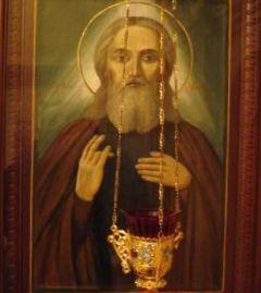 Рукописная икона Феофил Омучский купить с доставкой