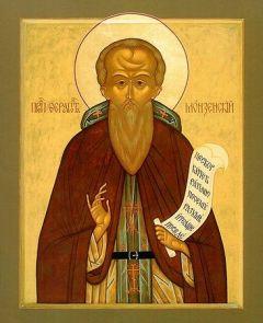 Рукописная икона Ферапонт Монзенский купить с доставкой
