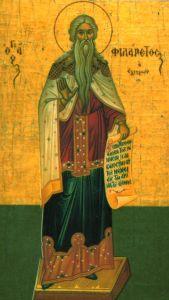Рукописная икона Филарет Милостивый купить с доставкой