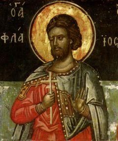 Рукописная икона Флавий Севастийский купить с доставкой