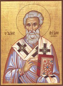 Рукописная икона Фотий Константинопольский купить с доставкой