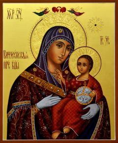 Рукописная Вифлеемская икона Божией Матери купить с доставкой