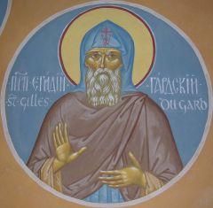 Рукописная икона Эгидий Гардский купить с доставкой