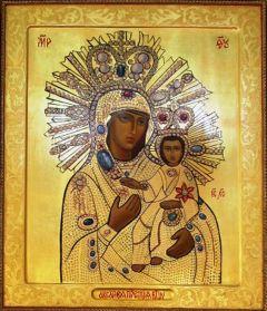 Рукописная икона Аксайской Божией Матери купить с доставкой