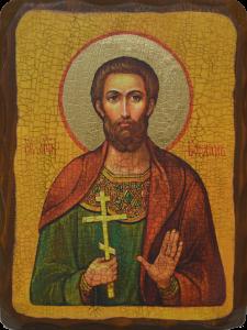 Икона состаренная Богдан мученик