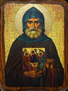Икона состаренная Александр Свирский купить с доставкой