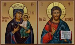 Венчальная пара Юровичская икона купить с доставкой
