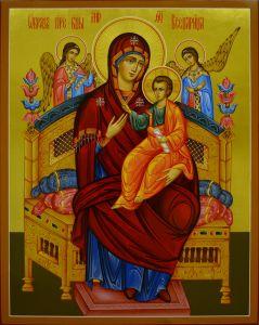 Рукописная икона Всецарица храмовая икона купить с доставкой