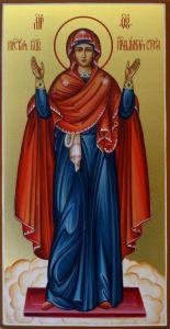 Рукописная икона Божией Матери Нерушимая Стена купить с доставкой
