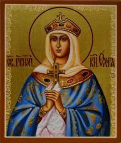 Рукописная икона княгиня Ольга купить с доставкой