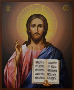 Рукописная икона Спаситель под старину купить с доставкой