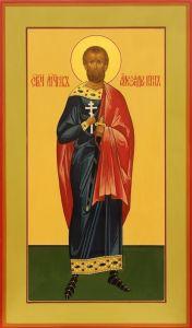 Рукописная икона Святой Александр Воин купить с доставкой