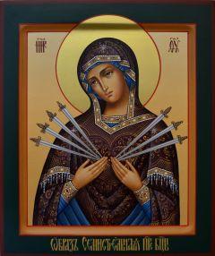 Рукописная Семистрельная икона Божией Матери купить с доставкой