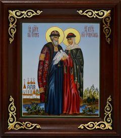Рукописная икона Петр и Феврония с голубями в руках 20 купить с доставкой