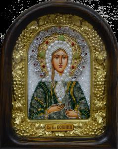Икона бисером Ксения Петербургская купить с доставкой