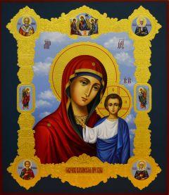 Казанская икона Божьей Матери с Предстоящими купить с доставкой
