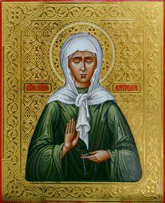 Рукописная икона Блаженная Матрона купить с доставкой