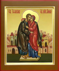 Рукописная икона Иоаким и Анна купить с доставкой