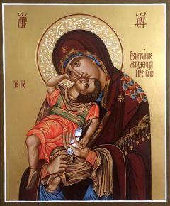 Рукописная икона Взыграние Младенца купить с доставкой