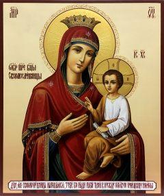 Рукописная икона Скоропослушница купить с доставкой