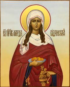 Рукописная икона Марфа Вифанская купить с доставкой