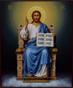 Рукописная икона Спас на престоле купить с доставкой