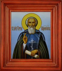 Рукописная икона Сергий Радонежский купить с доставкой