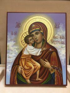 Рукописная икона Феодоровская живопись купить с доставкой
