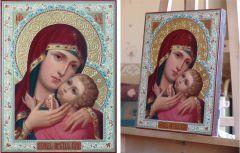 Рукописная Корсунская икона Божией Матери масло купить с доставкой