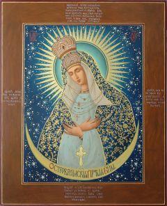 Рукописная Остробрамская икона масляная живопись купить с доставкой