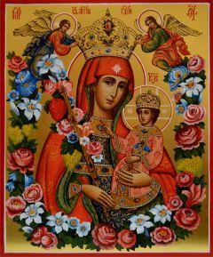 Рукописная икона Благоуханный Цвет (Неувядаемый Цвет) купить с доставкой