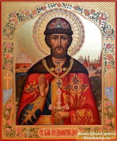 Рукописная икона Дмитрий (Димитрий) Донской купить с доставкой