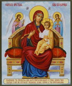 Рукописная икона Всецарица живопись купить с доставкой