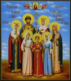 Рукописная икона Царственные Страстотерпцы купить с доставкой