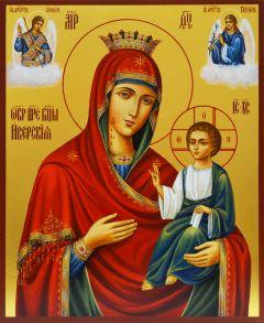 Рукописная икона Иверская