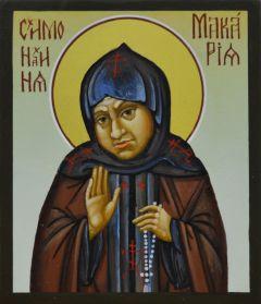 Рукописная икона Макария схимонахиня купить с доставкой