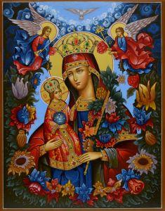 Рукописная икона Неувядаемый Цвет купить с доставкой