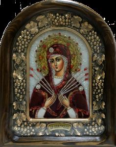 Икона из бисера Семистрельная купить с доставкой