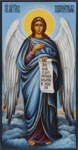 Живописная икона Ангела Хранителя купить с доставкой