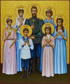Рукописная икона Царская семья 2 купить с доставкой