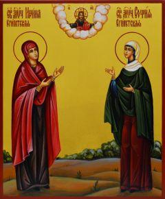 Рукописная икона Ирина и София Египетские