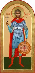 Рукописная икона Святой Александр Севастийский купить с доставкой