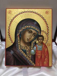 Рукописная Казанская икона Божией Матери 5 купить с доставкой