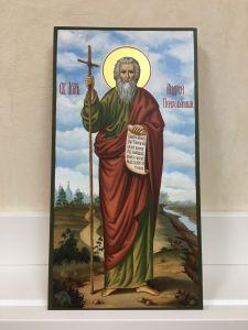 Рукописная икона Апостол Андрей Первозванный живопись 2 купить с доставкой