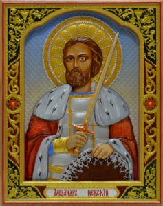 Резная икона Александр Невский 3