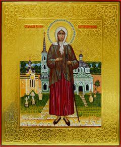Рукописная икона Ксения Петербургская 2 купить с доставкой