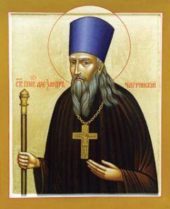 Рукописная икона Святой Александр Чагринский купить с доставкой