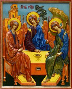 Резная икона Святая Троица 3 купить с доставкой