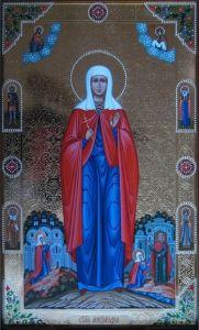 Рукописная икона Святая Александра Анкирская
